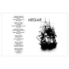 """""""Negar"""" (Slavery Memorial) Poetic Print Poster"""