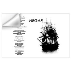 """Negar"" (Slavery Memorial) Poetic Print Wall Decal"