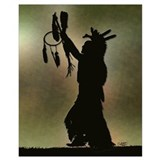 Native american indian Wrapped Canvas Art