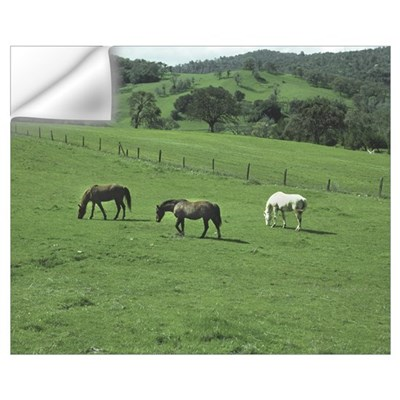 Grazing in Green Wall Decal