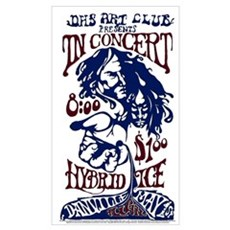 of Hybrid Ice's first concert, May 1, 1970 Framed Print