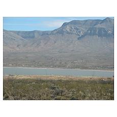 Desert Lake 1 Poster