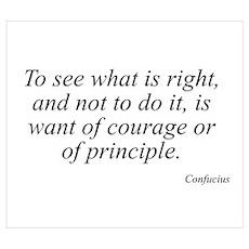 Confucius quote 14 Poster