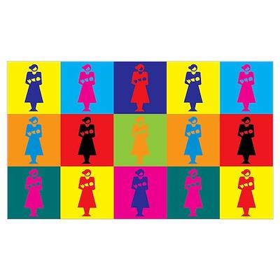 Midwifery Pop Art Poster