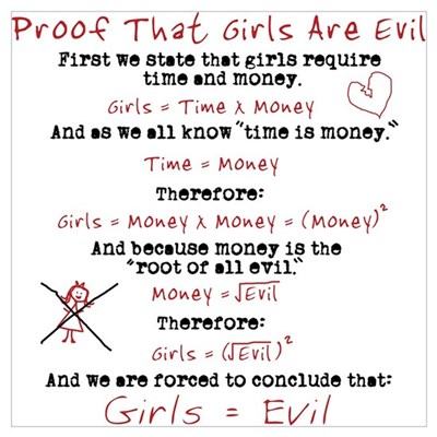 Girls Are Evil Anti Love Poster