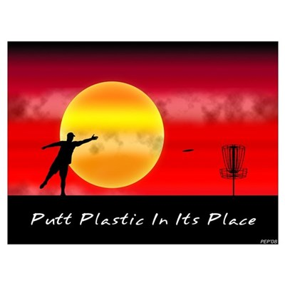 Putt Plastic In Its Place Framed Print