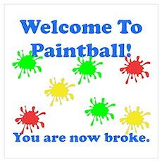 Paintball Broke Poster