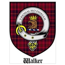 Walker Clan Crest Tartan Poster