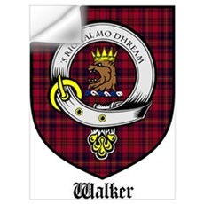 Walker Clan Crest Tartan Wall Decal