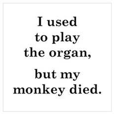I used to play the organ Framed Print