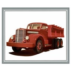 Old Diamond T Truck Poster