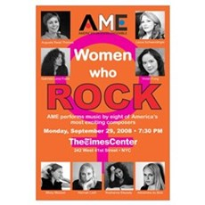 AME Women Who Rock: Framed Print