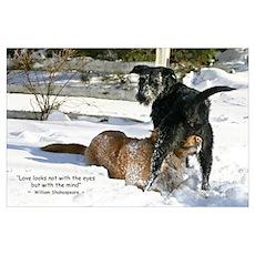 Large Dog Love Poster