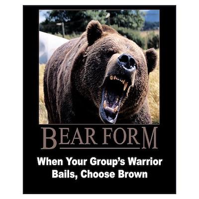 Bear Form Poster