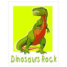 Dinosaurs Rock Poster