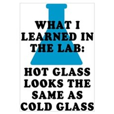 Lab Glass Framed Print