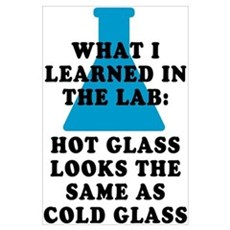 Lab Glass Poster