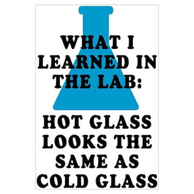 Lab Glass Poster