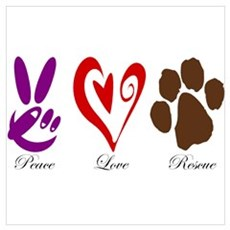 Peace, Love, Rescue Canvas Art