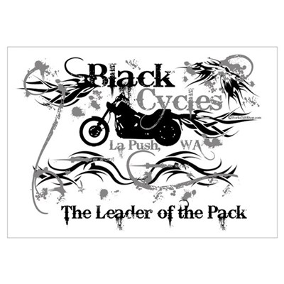 Black Cycles Poster