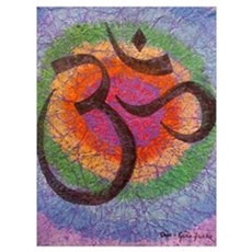 Soothing Chakra inspired Om Canvas Art