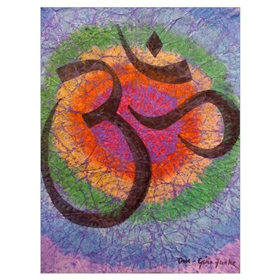Soothing Chakra inspired Om Poster