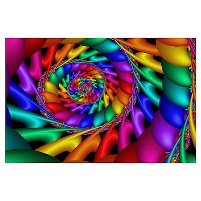 """""""Color 11"""" Fractal Art Poster"""