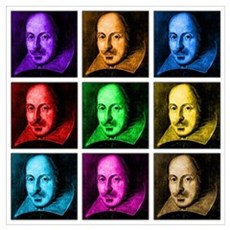 Pop Art Shakespeare (Ver. 2) Poster
