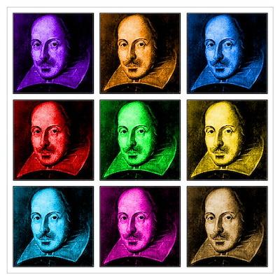 Pop Art Shakespeare (Ver. 2) Poster