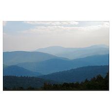 Blue Smokey Mountains #03 X-Large Print 23x35 Poster