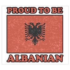 PROUD TO BE ALBANIAN Canvas Art