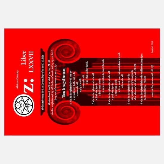 """Liber Oz 23x35"""" - Scarlet"""