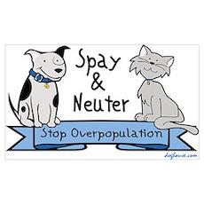Stop Overpopulation Poster