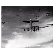 B-17's Over Germany Poster