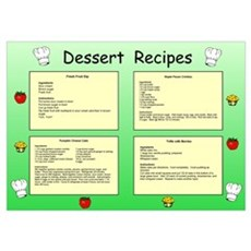 Dessert Recipes II Poster