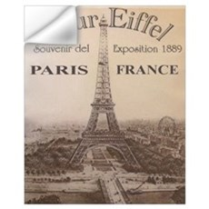 Vintage Eiffel Tower Wall Decal