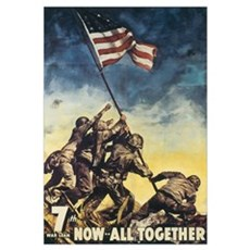 Iwo Jima Flag Raising Framed Print