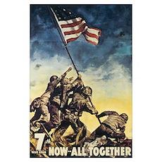 Iwo Jima Flag Raising Poster