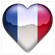 France Heart Poster