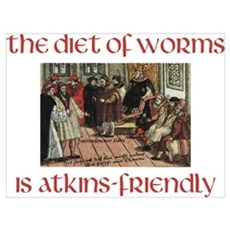 The Diet of Worms is Atkins Friendly Canvas Art