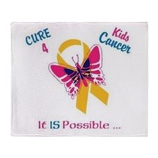 Throw Blanket A CURE 4 Kid's Cancer IS Possible