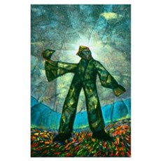 """23 x 35 in. """"Van Gogh, Hitch-hiking......"""" Poster"""