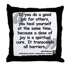 Sullivan Joy Quote Throw Pillow