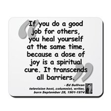 Sullivan Joy Quote Mousepad