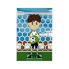 Cute Soccer Boy Magnet