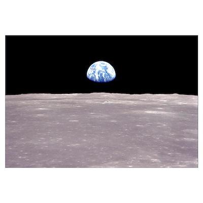 Apollo 11 Earthrise on the Moon Poster