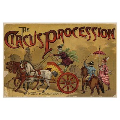 The Circus Procession 1888 Print Poster