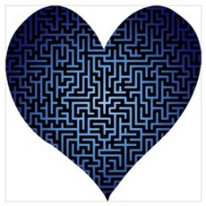 Heart is a Maze Poster