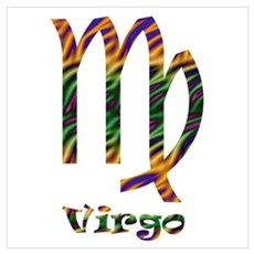 Virgo Pattern Poster