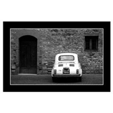 Old Fiat 500 in Tuscany Poster